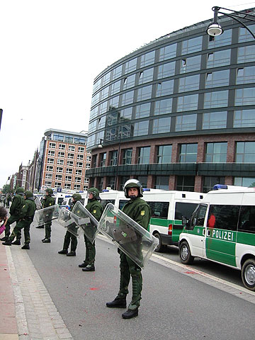 hotel with g8 delegation protected by police