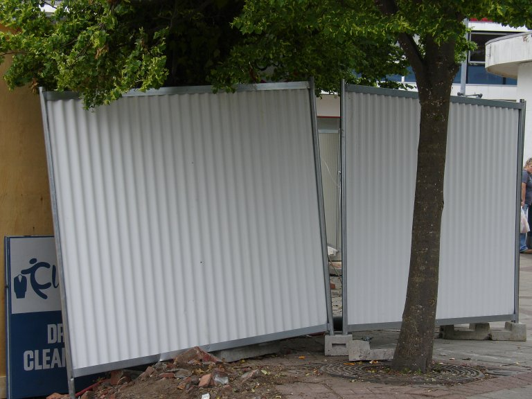 unsecured fence panels