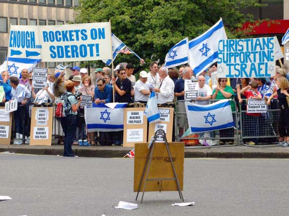 ...And a Zionist Rally!