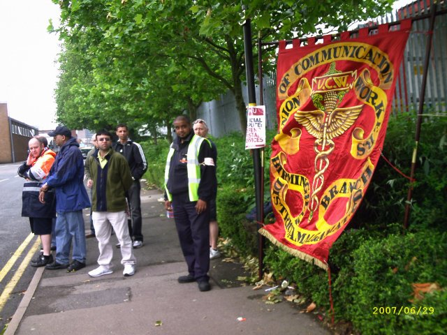 the back gate picket line