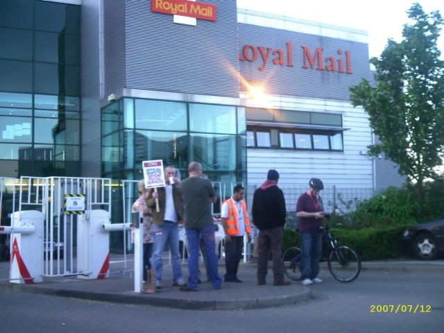 the side gate picket line