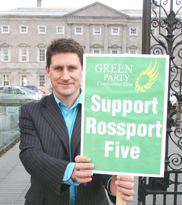 Eamon Ryan, minister for Natural Resources, when he supported the Rossport Five