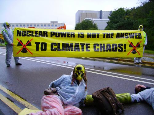 Nuclear power is not the answer to climate chaos!