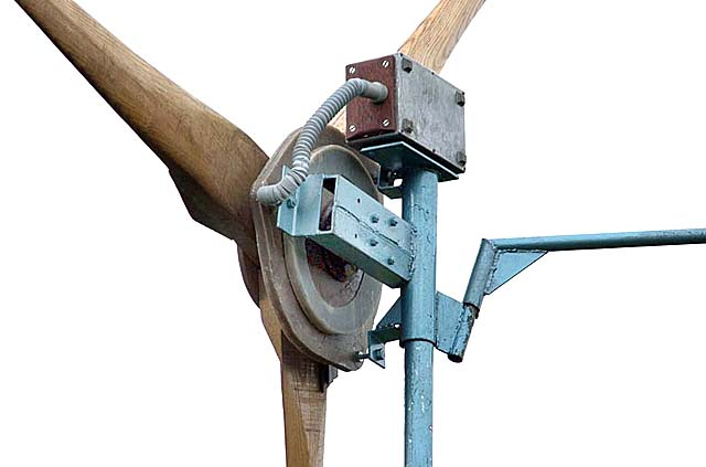 Homebrew wind turbine parts from Forcefield