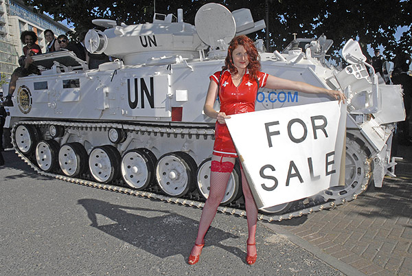 first tank. second tank at DSEi - it's for sale!