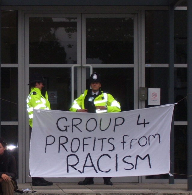 police against group 4