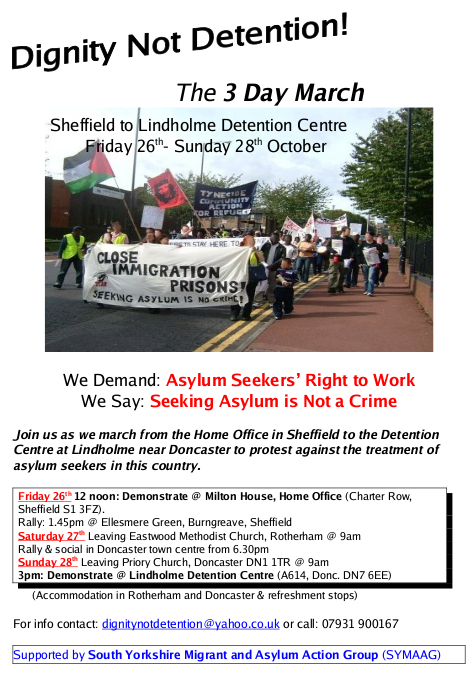 Dignity Not Detention - the 3 Day March