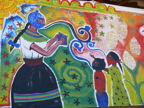 A women s gathering called comandanta ramona uk indymedia for Mural zapatista