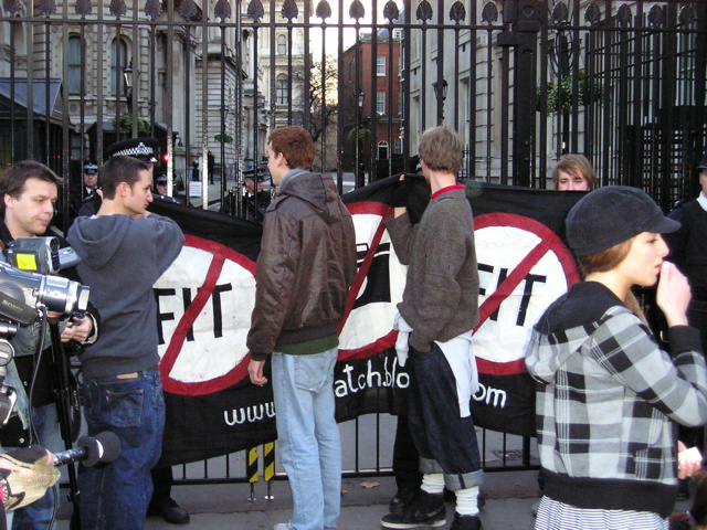 Downing Street bannered