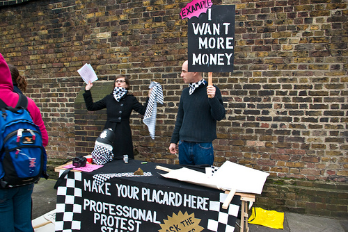 The Professional Protest Stall
