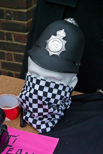 Police issue face masks