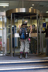 Clowns stuck in the doors at RBS!