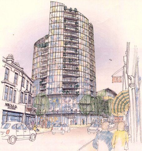St Modwen illustration of proposed development for Arcade site, Walthamstow