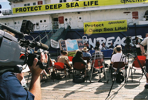 Greenpeace action on bottom trawling, Halifax, Canada. Photo: flickr.com/freeflo