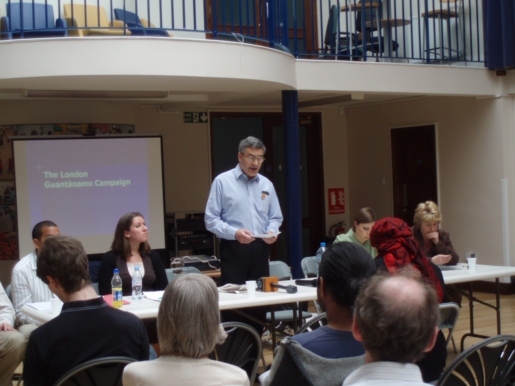 At the start of the meeting, David Harrold speaking