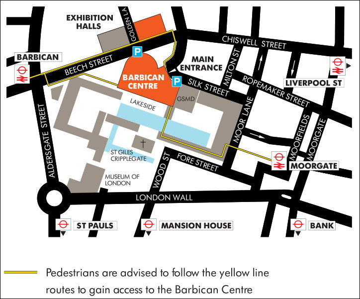 Directions to the Barbican