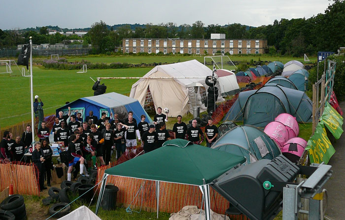11-07-08: Supporters Gather At Wembley Tent City