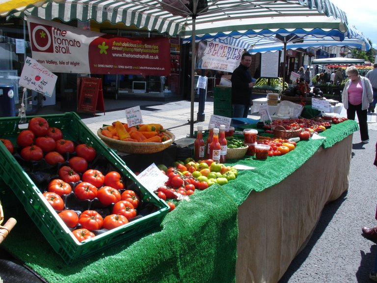 Isle of Wight tomato stall