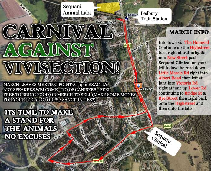 March route... PLEASE DISTRIBUTE THIS INFORMATION!