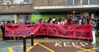 Previous protest outside Brent Council