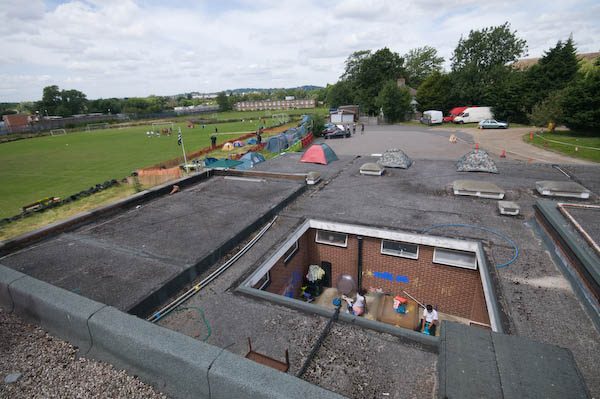 Nursery, footballers and more tents on the roof