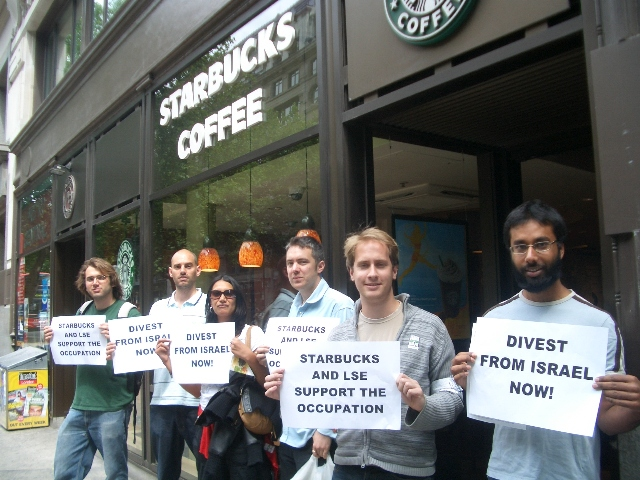 Student and Workers Picket Starbucks