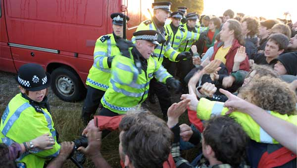 Police attack peaceful campers