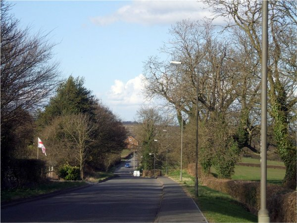 Codnor-Denby Lane from outside the Bungalow