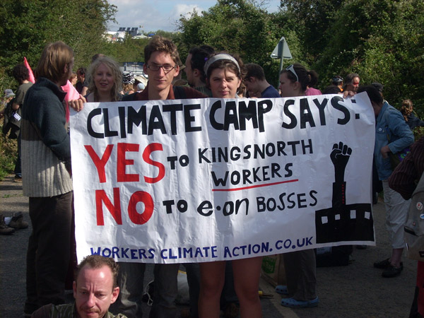Working class climate agency was discussed at several workshops