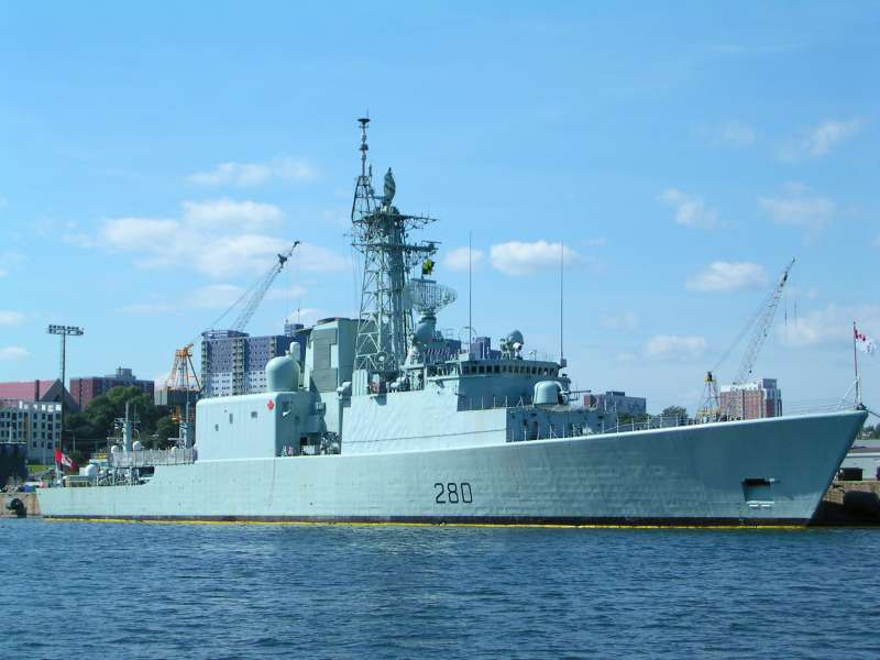 Canada's HMC Iroquois, involved in Maritime Security. Canada cur. leads CTF 150