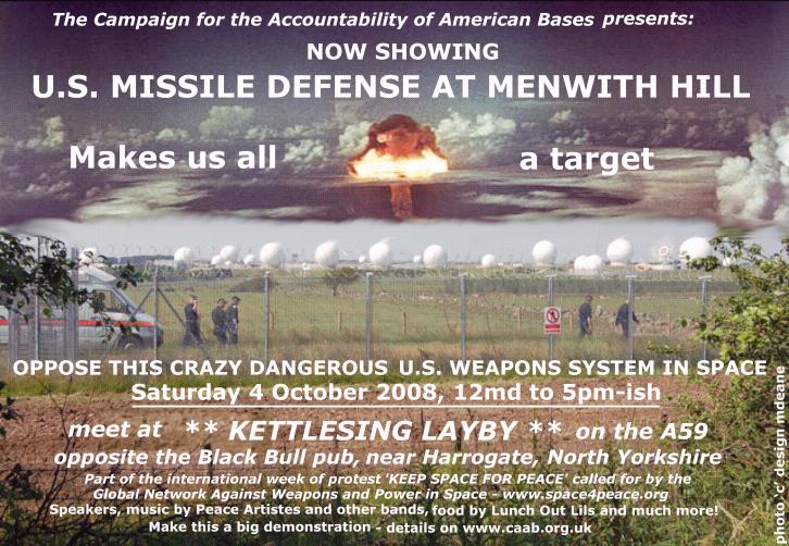 Stop Missile Defense at Menwith, Harrogate.