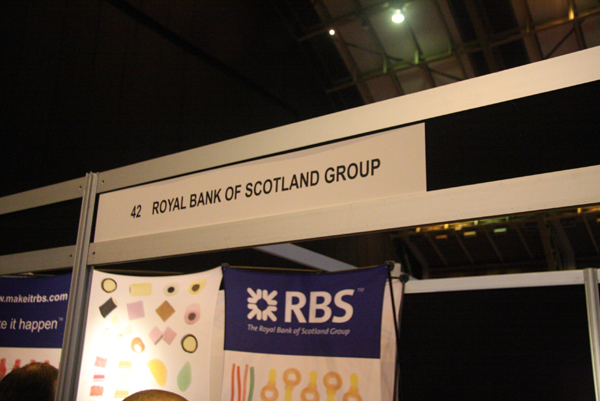 for the Royal Bank of Scotland Recruitment stall