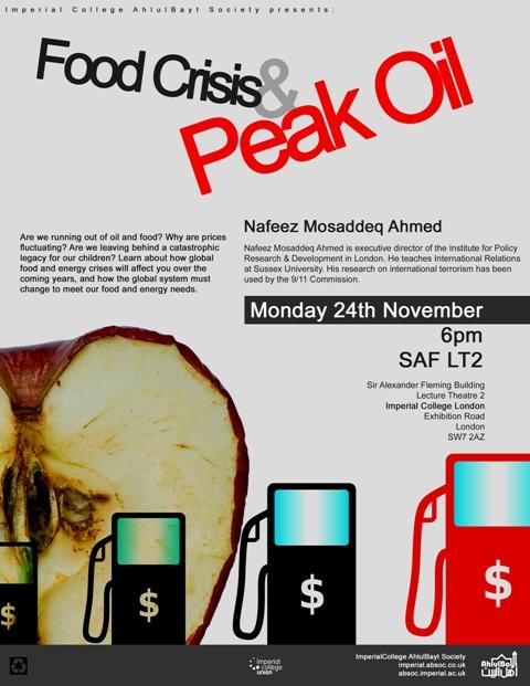 Food Crisis and Peak Oil
