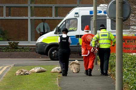Four santas got nicked...