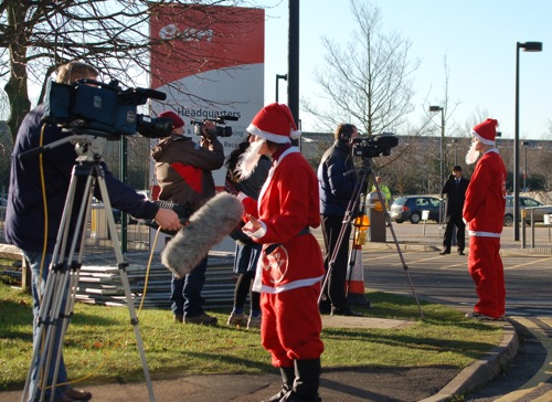 multiple media interviews with multiple santas