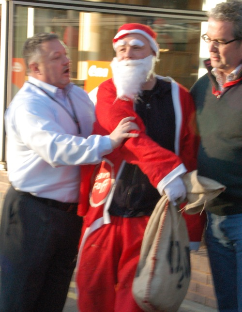 Security unlawful imprison santa