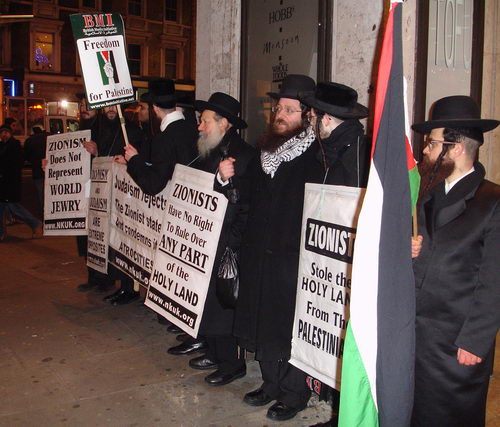 Jews supporting Palestine and against zionism.