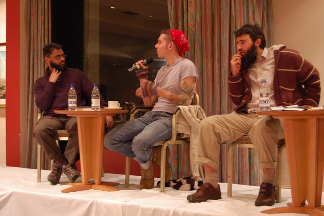 Omar Deghayes, Moazzam Begg and Christopher Arendt