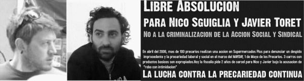 flyer: acquittal for nico and toret