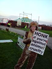 Honk if you are against animal cruelty
