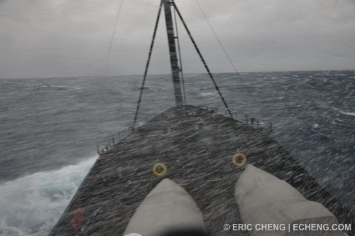 The M/V Steve Irwin in a big storm in the Southern Ocean