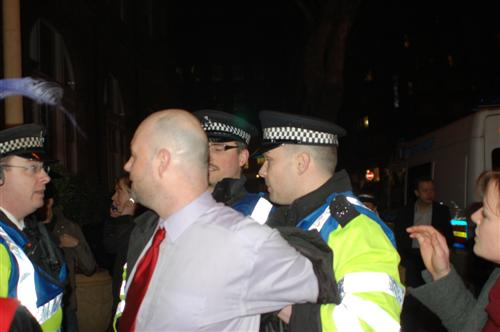 Arrested by fashion police for wearing a polyester tie
