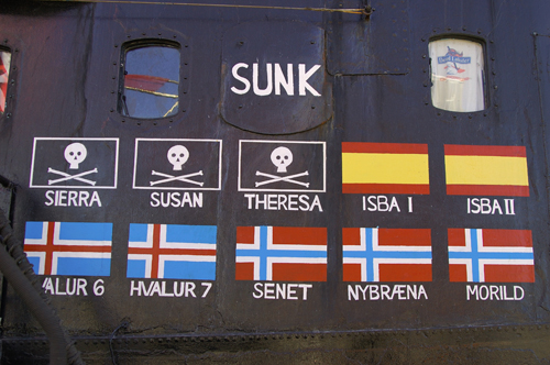 Sea Shepherd tally on the Farley Mowat