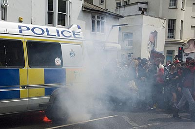 Environmentalists have expressed concern about Sussex Police exhaust emissons.