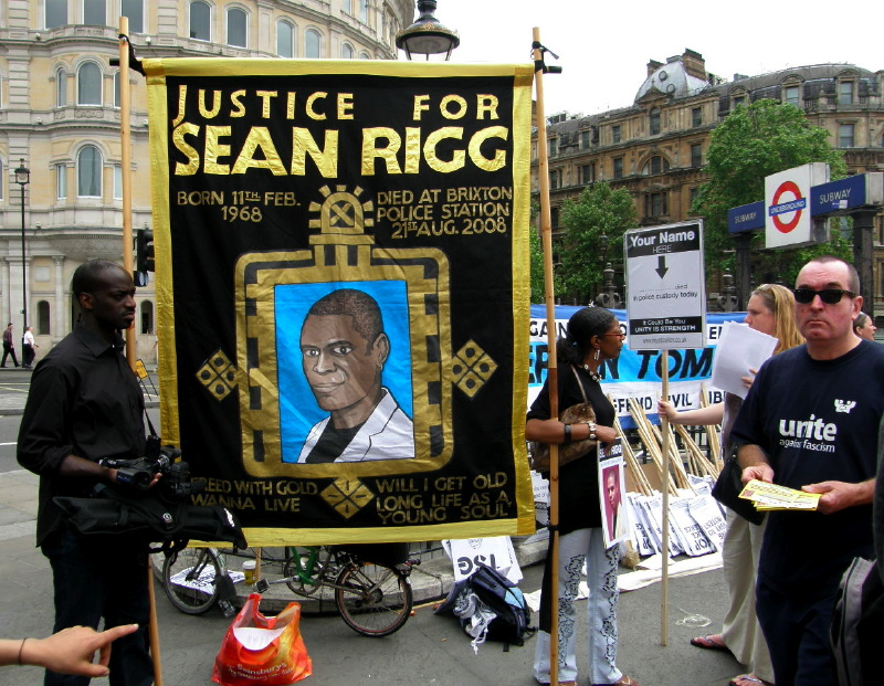 B. His relatives demand justice for Sean Rigg