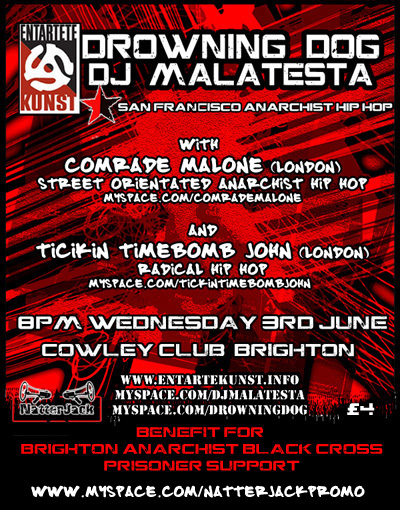 Kicking off in Brighton Wed 3rd June @ Cowley Club