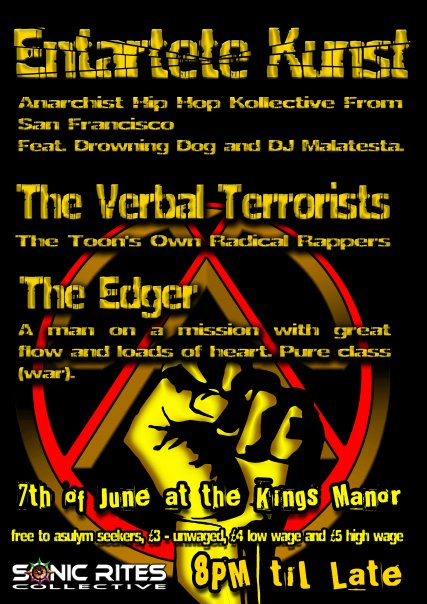 Sunday night we are in Newcastle @ The Kings Manor on 7th June