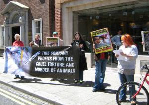 IRISH ACTIVISTS PROTEST AT ASTRAZENECA AS PART OF WEEK OF ACTION