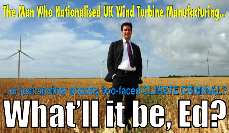 A3. The UK's first Secretary of State for Energy and Climate Change, Ed Miliband