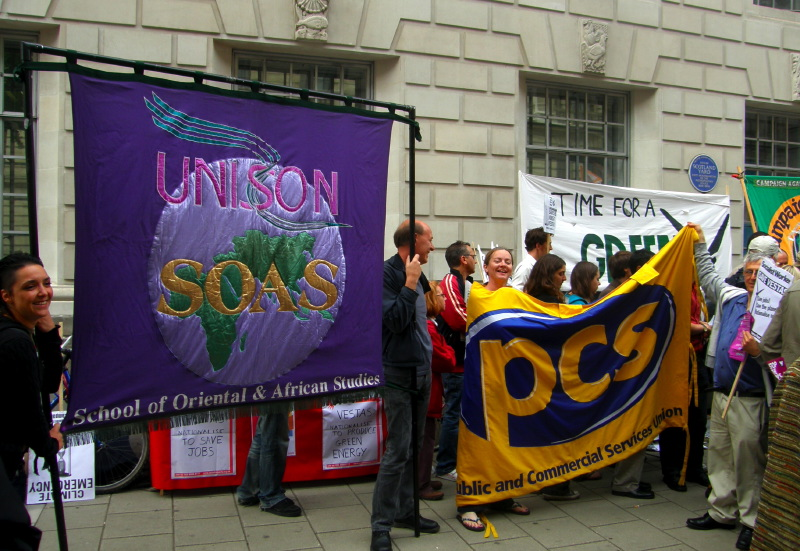 B4. Trade Union support from UNISON & PCS